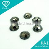 KA1 round chessboard flat back acrylic stone two holes sewing on craft apparel garment accessories decoration fitting