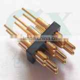 6pin connector spring brass plunger pogo pin pogo pin connector for smart watch