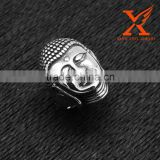 In Stock Custom Band Polished Stainless Steel Vintage Buddha Face Shape Fashion Men Rings Jewelry