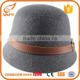 Small order accept cheap felt hat material wool bodies bucket caps