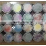 2 in 1 Acrylic Powder with Glitter Dust 24 Mix Colors for Nail Art HN1275