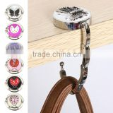 Useful Foldable Metal Butterfly Purse Bag Hanger Handbag Table Hook                                                                         Quality Choice