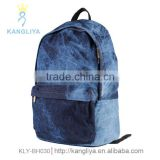 New arrival casual cowboy bags casual jean backpack travel