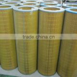 Fiber glass material air filter cartridge with carbon steel cap,dust filter element
