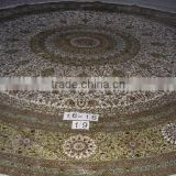 dinning room carpet,handmade round silk carpet,luxury dinning room persian silk rug,easy to clean