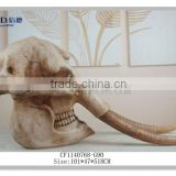 polyresin craft realistic animal skull dinosaur head fossil wholesale