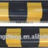 600mm Black and Yellow Rubber Reflective Garage Corner Guard & Wall Protector
