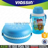 A156 new design plastic kids macaron lunch box kids water bottle suit shantou shuanghuan viassin