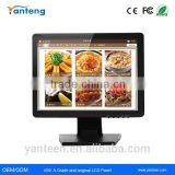 Plastic casing 15inch lcd touch monitor for the POS machine