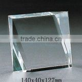 Pure crystal blank block with engraved for crystal trophy and award (R-0264)