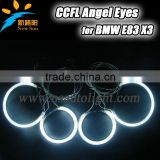 Good quality E83 X3 CCFL angel eyes for BMW angel eyes ring 131mm& 96mm semi circle car headlight angel eyes