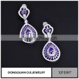 Fashion imitation jewellery/brass earring jewelry hanging stud earrings