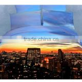 Luxury 3D oil print 4pc bedding set ,queen size comforter/Quilt covers bedspread Flat bed sheet sets from china