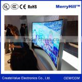 Wall Mount Curved OLED TV 27/34/35/42/55/65 inch Ultra Wide LCD Display 4K Monitor
