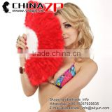 Wholesale Cheap Elegant Red Marabou Feather Hand Fan Costume Fun Act Burlesque Decor Dancing