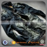 New style wholesale men denim biker jean jacket motorcycle