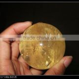 Wholesale natural decorative polished citrine quartz crystal ball sphere for decoration