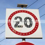 High quality aluminum speed limit sign led flashing solar powered international traffic sign