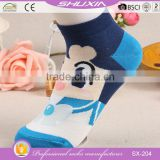 SX-204 wholesale cotton knitted knitting yoga socks girl sock woman short socks factory manufacturers