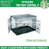 Haierc custom color foldable large steel dog cage with double door folding square tube heavy duty dog cage