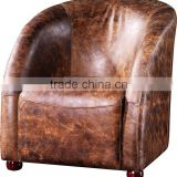 2016 high quality retro vintage leather leisure chair for living room C626#