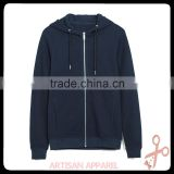 mens Basic open sweater With hood OEM 100% cotton plain wholesale zip up hoodie manufacture good quality