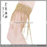 Hight quality women dance accessories dance shiny beaded fringe belly dance armband
