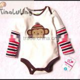Wholesale Animal Baby Long Sleeve One Piece Rompers New Born Baby Clothes