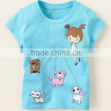 fashion new arrival girls Jumping beans cotton short sleeve t shirts kids t-shirts for 0-5years