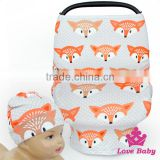Adorable Cute Fox Pattern Printed Cotton Elastic Infant Nursing Stroller Carrier Protect Baby	Cover