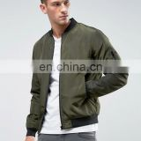 Clothing Manufacturer Embroidered Custom Military Air Force Khaki Bomber Jacket / Outershell Made From 100% Nylon Material