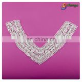 V shape embroidery lace neckline lace collar