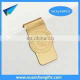 2017 top quality custom embossed paper clip / brass money clip wholesale