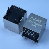 Ingke YKJV-8006NL 100% Cross JD2-0010NL Vertical Through Hole 1 Port 100 Base-TX RJ45 Modular Jack Connectors