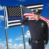 Cheap Flag Factory Wholesale 3x5 Ft Stock Black White Blue Stripes American Flags