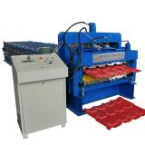 aluminium sheet making machine/double layer zinc roof sheeting roll forming machine