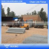 Used Black Vinyl Coated Chain Link Fence