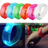 New Voice Control LED Bracelet Flashing Bangle Fashion Light Charm