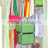 modern door curtain non-woven fabric wardrobe with drawer designs                                                                         Quality Choice