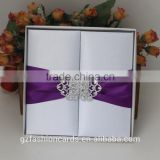 Luxury Wedding Invitation Card Silk Box with Embellishment                                                                         Quality Choice