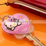 Promotional Eco-friendly silicone cute embossed 2d/3d key caps, silicone key cover ,silicone key holder