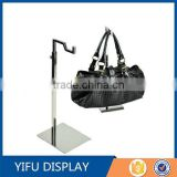 Adjustable Stainless Steel Bag Stand Holder Metal Bag Stand Display Mirror Silver Handbag Display Rack