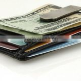 Factory Custom Money Clip Front Pocket Wallet Genuine Leather Money Clip Wallet