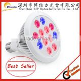 12w E27 par38 led grow light bulb red blue 3:1 12W led plant grow lights for indoor plants greenhouse