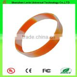 Good Quality Beautiful Segmented Color Silicone Rubber Bracelet