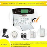 Wireless intellegent auto-dial 8-zone intelligent security alarm system (YL007ZX)