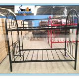 180 KGS Load Capacity metal double decker bunk bed,school domitory steel bunk bed