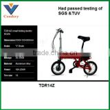 2016 Newest Red 14 inches foldable electric bike battery with lithium battery                                                                         Quality Choice
