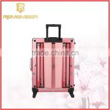 Rolling Cosmetic Makeup Case 4 In 1 Make Up Artist Case Aluminum Construction Case latest tops designs girls