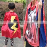 Wholesale boys Fashion Superhero Cape,2016 Halloween Black capes with mix colors,cosplay costume capes